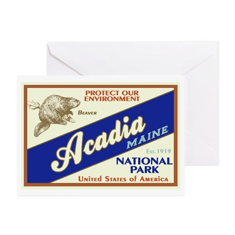 Acadia (Beaver) Greeting Cards (Pk of 10)