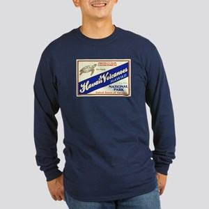 Hawaii Volcanoes (Turtle) Long Sleeve Dark T-Shirt
