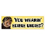 Edible Undies Bumper Sticker