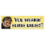Edible Undies Bumper Sticker