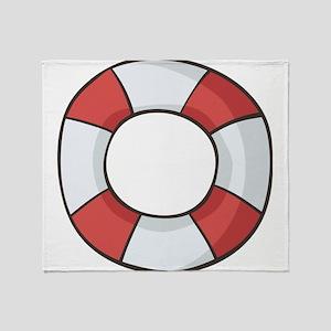 Navy, nautical, anchor, sail, sailin Throw Blanket