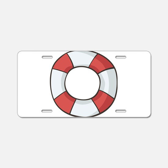 Navy, nautical, anchor, sai Aluminum License Plate