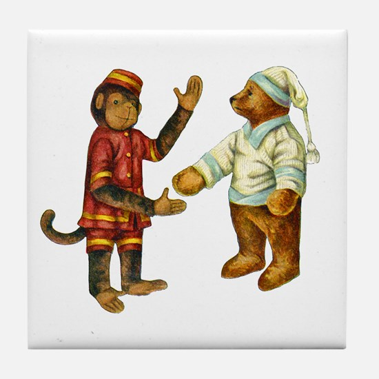MONKEY & BEAR Tile Coaster
