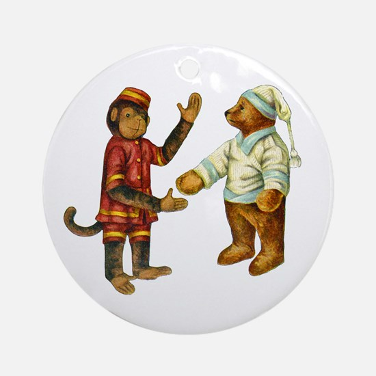 MONKEY & BEAR Ornament (Round)