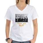 Give 'em Hell Women's V-Neck T-Shirt