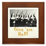Give 'em Hell Framed Tile