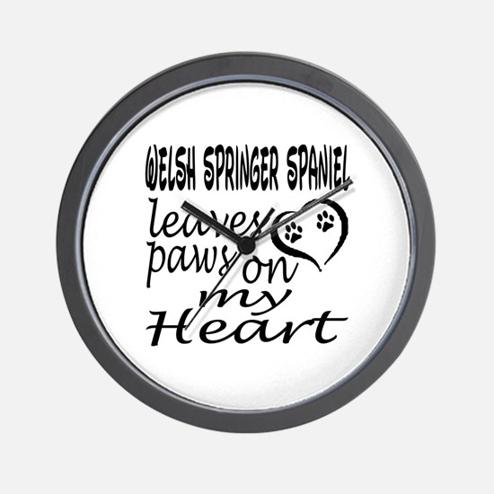 Welsh Springer Spaniel Leaves Paws on M Wall Clock