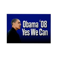 Obama '08 Yes We Can Rectangle Magnet