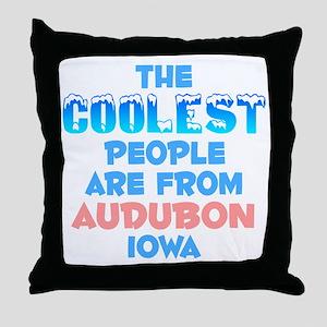 Coolest: Audubon, IA Throw Pillow