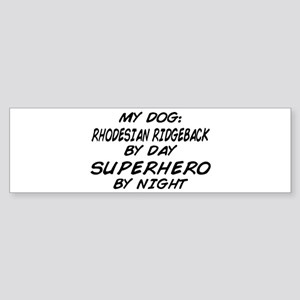 Rhodesian Ridgeback Superhero Bumper Sticker