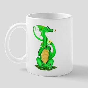Cute Green Dragon Mug