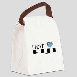 I Love Fiji Canvas Lunch Bag