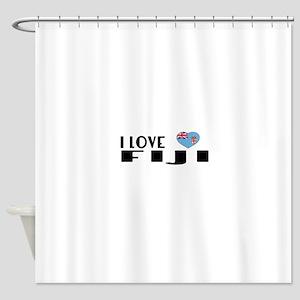 I Love Fiji Shower Curtain