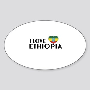 I Love Ethiopia Sticker (Oval)