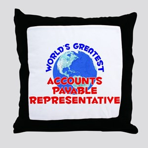 World's Greatest Accou.. (E) Throw Pillow