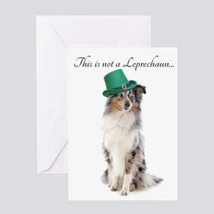 Funny Sheltie St. Pat's Day Greeting Cards