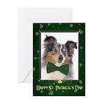 Sheltie St. Patricks Day Greeting Cards