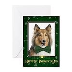 Sheltie St. Patrick's Day Greeting Cards