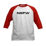 NSFW Not Safe For Work Kids Baseball Jersey