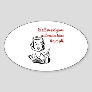 It's All Fun & Games Oval Sticker