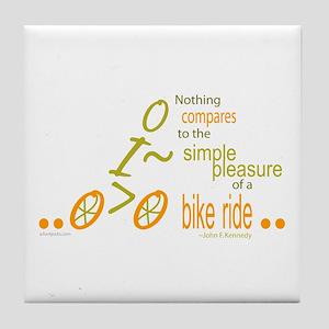 Biking Pleasure Tile Coaster