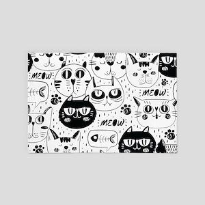 Cat Faces 4' x 6' Rug
