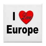 I Love Europe Tile Coaster