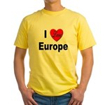 I Love Europe Yellow T-Shirt
