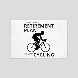 Cyclist Retirement Plan 4' x 6' Rug
