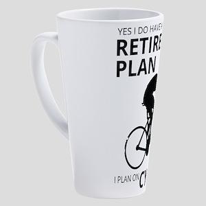Cyclist Retirement Plan 17 oz Latte Mug