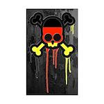 German Punk Skull Sticker (Rectangle)