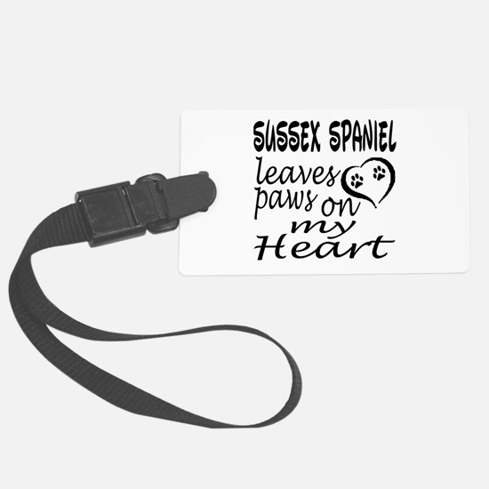Sussex Spaniel Dog Leaves Paws o Luggage Tag