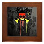 German Punk Skull Framed Tile