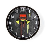 German Punk Skull Wall Clock