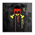 German Punk Skull Tile Coaster