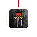 German Punk Skull Ornament (Round)