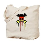 German Punk Skull Tote Bag