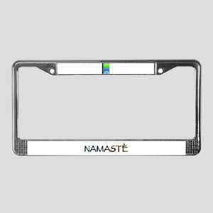 Om Shanti Means Peace License Plate Frame