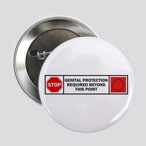 """Genital Protection 2.25"""" Button"""