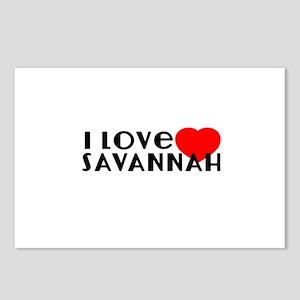 I Love Savannah Postcards (Package of 8)