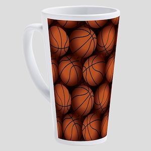 Basketball Balls 17 oz Latte Mug