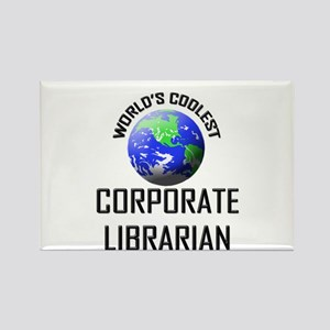 World's Coolest CORPORATE LIBRARIAN Rectangle Magn