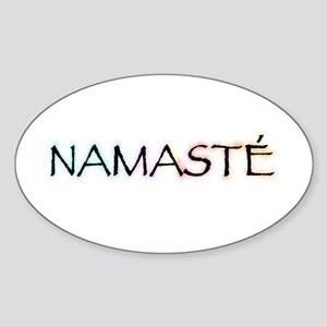 Namaste Oval Sticker