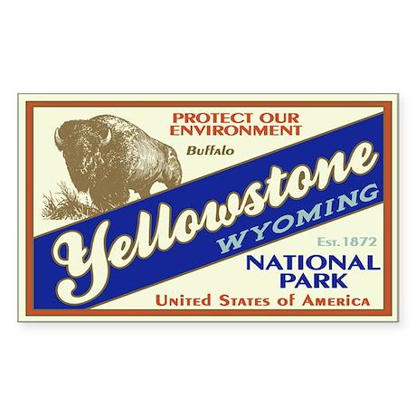 Yellowstone (Buffalo) Rectangle Sticker