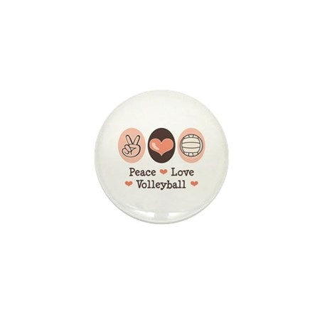 Peace Love Volleyball Mini Button (100 pack)