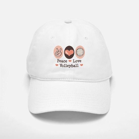 Peace Love Volleyball Baseball Baseball Cap
