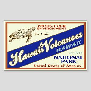 Hawaii Volcanoes (Turtle) Rectangle Sticker