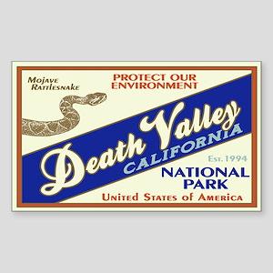 Death Valley (Rattlesnake) Rectangle Sticker