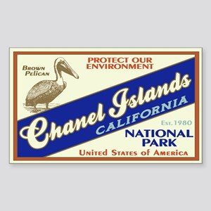 Channel Islands (Pelican) Rectangle Sticker