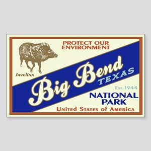 Big Bend (Javelina) Rectangle Sticker